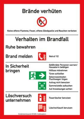 Waarschuwingsteken Brandbeveilingsverordening