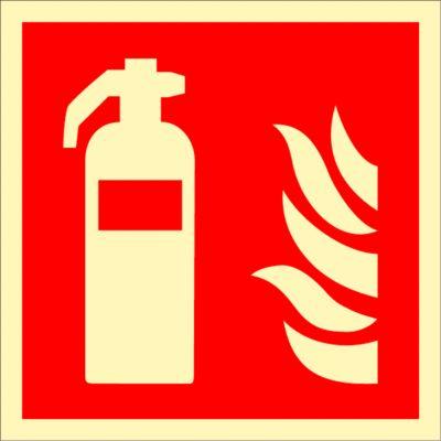 Waarschuwingsteken Brandblusser, HLK, 148 x 148 mm
