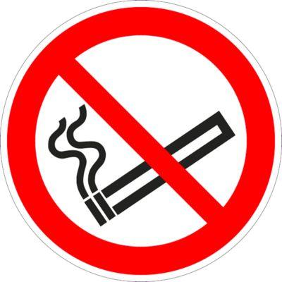 Waarschuwingsteken Roken verboden, Ø 100 mm, 5 stuks