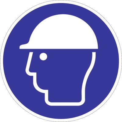 Waarschuwingsteken Veiligheidshelm gebruiken, zelfklevend