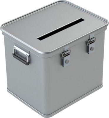Wahlurne A 1569, für Stimmzettel DIN A4, Aluminium, 50 Liter Inhalt