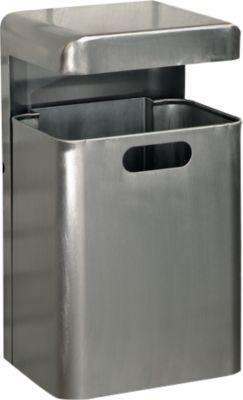 Wand-Abfallbehälter, 35 Liter, Edelstahl
