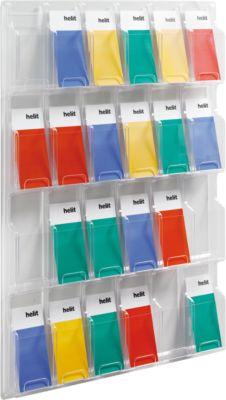 Wand-folderhouder, DIN lang, 24 vakken, L 762 x D 51 X H 1042 mm
