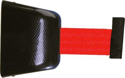 Wand-Gurtkassette, Schraubbefestigung, 5 m, Gurt rot