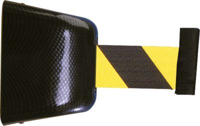 Wand-Gurtkassette, Schraubbefestigung, 5 m, Gurt schwarz/gelb
