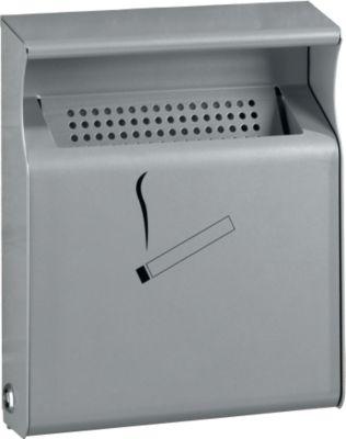 Wandasbak, plaatstaal, zilverkleur, B 232 x D 62 x H 285 mm, 2,1 liter