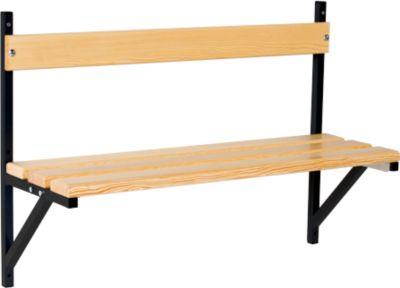 Wandbank, Holz, L 1015 mm, anthrazit (RAL 7016)