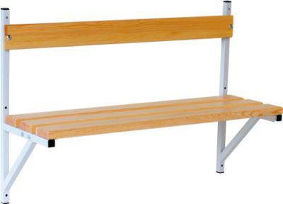 Wandbank, Holz, L 1015 mm, lichtgrau (RAL 7035)