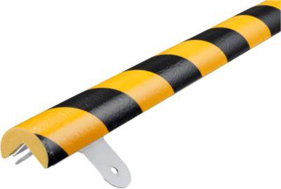 Wandbeschermingsset, Type A, 1 m. stuk, geel/zwart