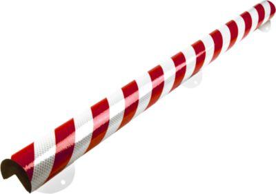 Wandbeschermingsset, Type A+, 1 m stuk, wit/rood reflecterend, 1 m.