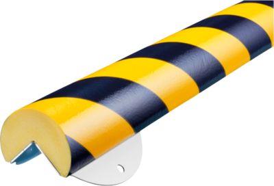 Wandbeschermingsset, Type A+, 1m stuk, geel/zwart, 1m stuk