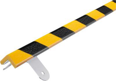 Wandbeschermingsset, type E, 1 m. stuk, geel/zwart