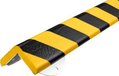 Wandbeschermingsset, Type H+, 1m stuk, geel/zwart, 1m stuk