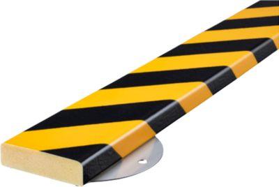 Wandbeschermingsset, type S, 1 m, geel/zwart