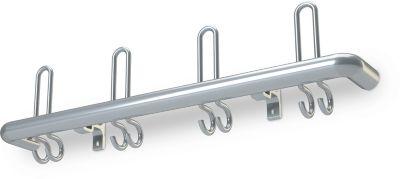 Wandgarderobe, aluminium, 800 mm breed
