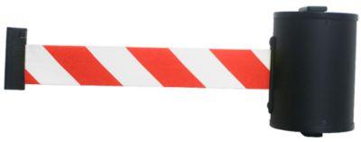 Wandgurtkassette, Schraubbefestigung, 10 m lang, drehbar, rot/weiß