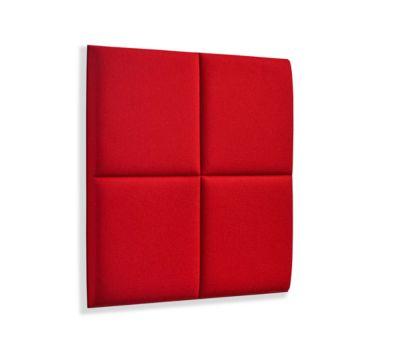 Wandpaneele m. Magnetbefestigung, B 604 x T 604 x H 47 mm, versch. 4 Square-Design, feuerrot