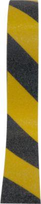 Warnmarkierung, für den Außenbereich, 25 mm x 6 m, 1 Rolle, schwarz/gelb