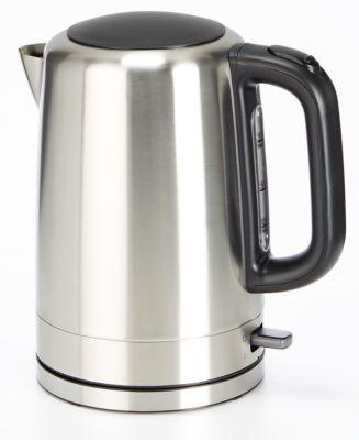 Wasserkocher Deluxe, Edelstahl, für 1,7 l, kabellos, drehbar um 360°, Leistung 2000 W