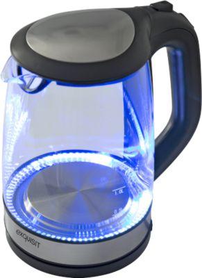 Wasserkocher exquisit WK 3501 swg, Glas, 2 l, 2200 W, mit Innenbeleuchtung, 360° drehbar