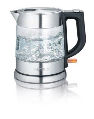 Wasserkocher WK 3468, kabellos, 1 l, 2200 W, entnehmbarer Kalkfilter, Glas/Edelstahl