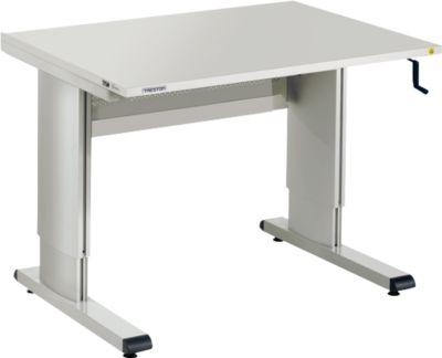 WB-Arbeitstisch mit HandkurbelTreston Arbeitstisch Serie WB, mit Handkurbel, höhenverstellbar,