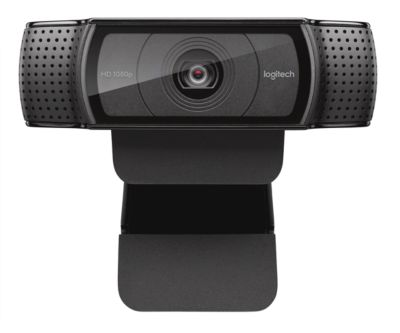 Webcam Logitech HD C920 Full HD C920 Full HD 1080p resolutie, 2 microfoons, briljante 15 MP foto's