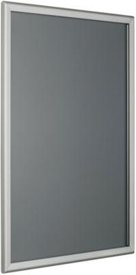 Wechselrahmen, spitze Ecken, silber eloxiertes Aluminiumprofil, DIN A3, 297 x 420 mm