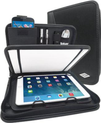 WEDO Tablet-Organizer ELEGANCE, DIN A5, Kunstleder/Nylon, mit Schreibblock, schwarz