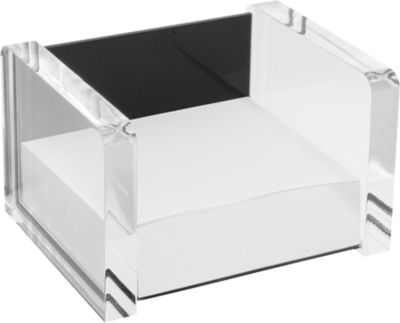 WEDO Zettelbox, glasklar/schwarz
