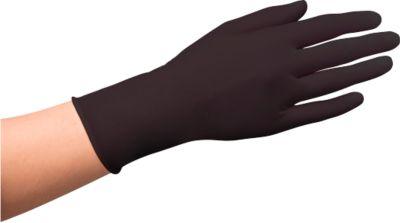 Wegwerphandschoenen, latex, poedervrij, zwart, 100 stuks, maat S