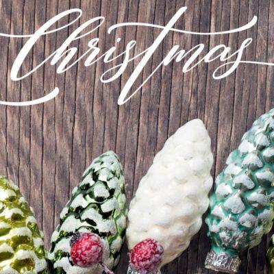 Weihnachtskarten Sigel Christmas Garland, DIN lang, 220 g/m², mit Tannenzapfenmotiv, inkl. Umschläge, 25 Stück