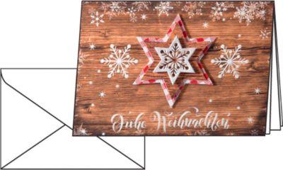 Weihnachtskarten Sigel Country Stars, A6, 250 g/m², inkl. weißen Umschlägen, 10 Stück