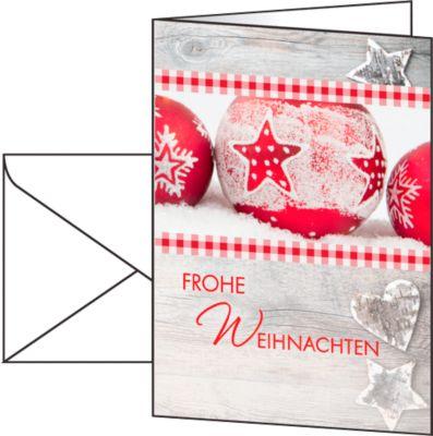 Weihnachtskarten Winter Feeling, Glanzkarton, inkl. Umschläge, DIN A6, 25 Stück
