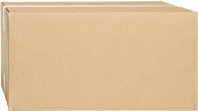 Wellpapp-Faltkartons, 1-wellig, 390 x 290 x 200 mm, braun