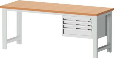 Werkbank Cubio W-2077/11-2.37, lichtgrijs