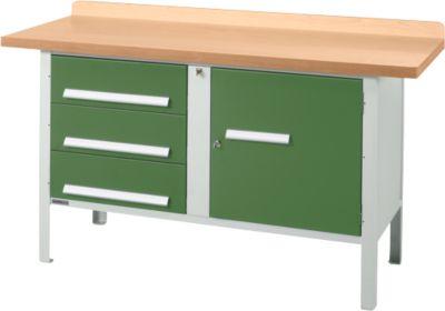 Werkbank PW 150-4, grün