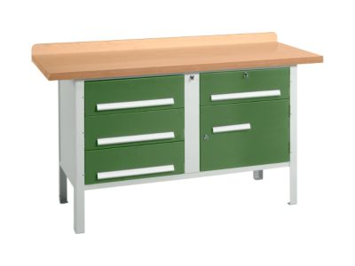 Werkbank PW 150-5, grün