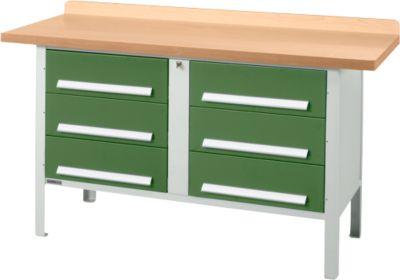 Werkbank PW 150-6, grün