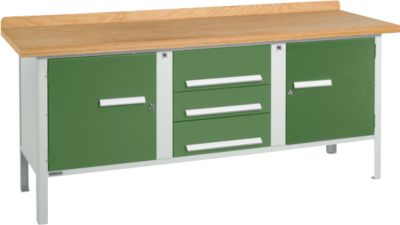 Werkbank PW 200-4, grün