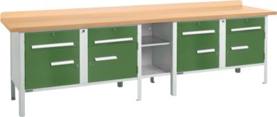 Werkbank PW 300-0, grün
