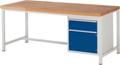 Werkbank Serie 8152, 1 Schublade, 1 Tür, B 2000 x T 900 x H 840 mm