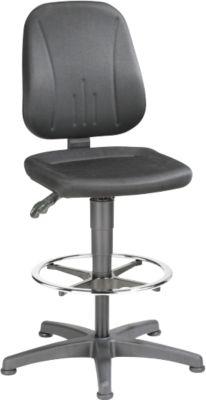 Werkdraaistoel 9651, stoffen bekleding, zweefvliegtuig, voetring, Citadel zwart, stof bekleding