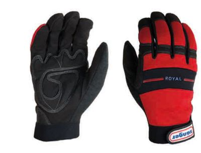 Werkhandschoen Royal, gewatteerd, met vingertopbescherming, 6 paar, maat L