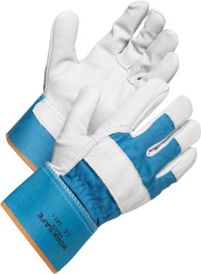 Werkhandschoenen Worksafe H20-432, katoen/leer, half gevoerd, maat 9, 12 paar