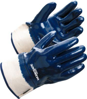 Werkhandschoenen Worksafe H40-453, EN388, nitril/katoen, jersey voering, maat 10, 12 paar