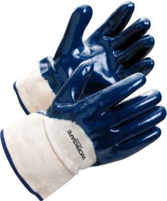 Werkhandschoenen Worksafe H40-455, EN388, nitril/katoen, nat- en oliebestendig, maat 10, 12 paar