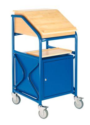 Werkplaats-lessenaar met klep/aflegblad