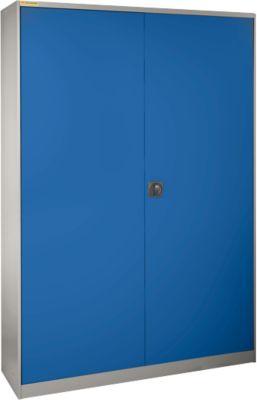 Werkplaatskast b1055xd620mm, zilvergrijs/gent.blauw