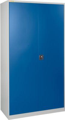 Werkplaatskast LP 90 met 30 dozen LF531, lichtgrijs RAL 7035/enzisch blauw RAL 5010